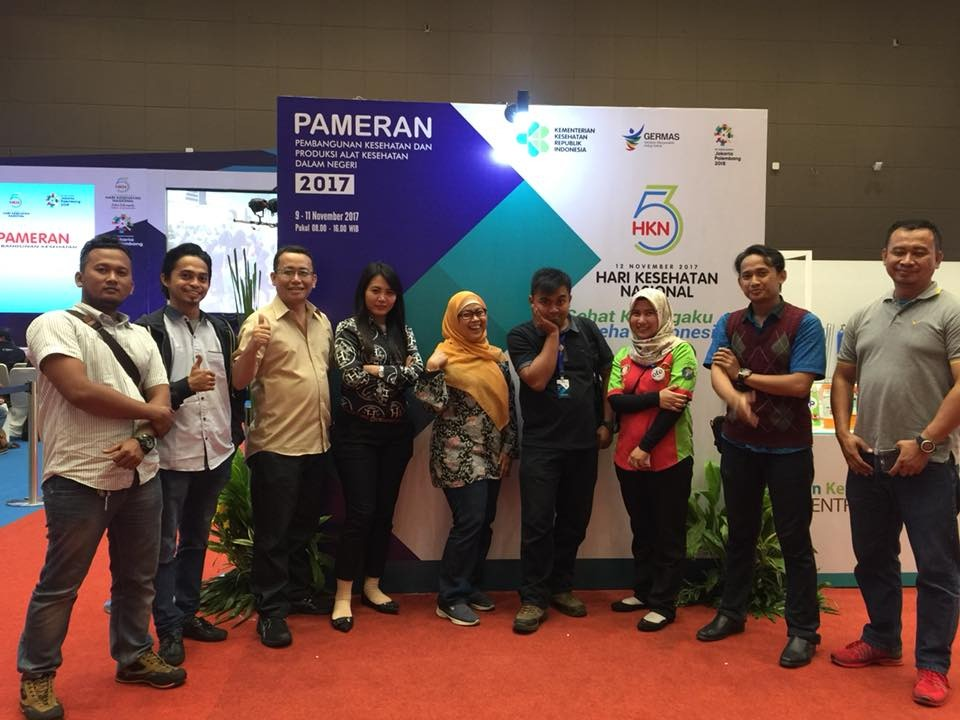 in-house medical equipment exhibition held at the moment of national health day at JIEXPO (Jakarta International Expo) Kemayoran – November 12, 2017